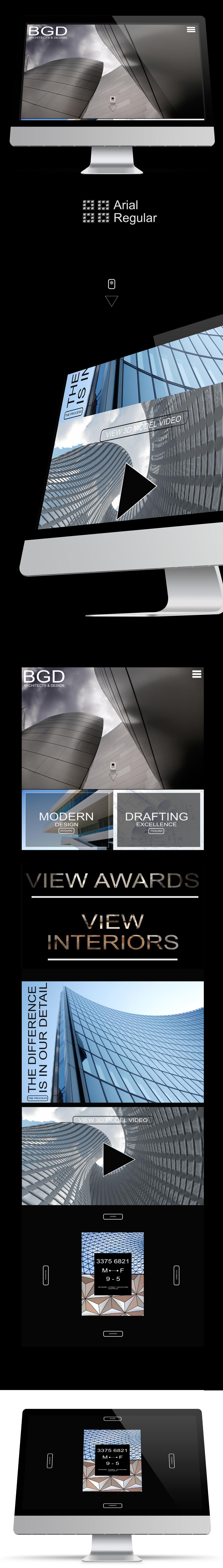 Archictects Website UI Design