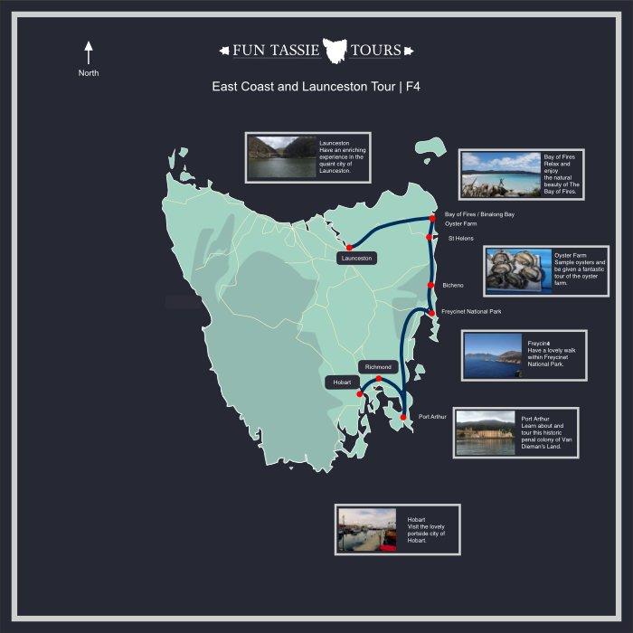 Fun Tassie Tours Maps 4 Day Tour