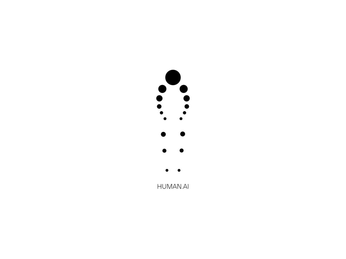 Human AI Logo Design