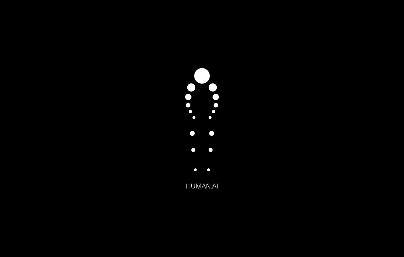 Human AI Logo Design Black