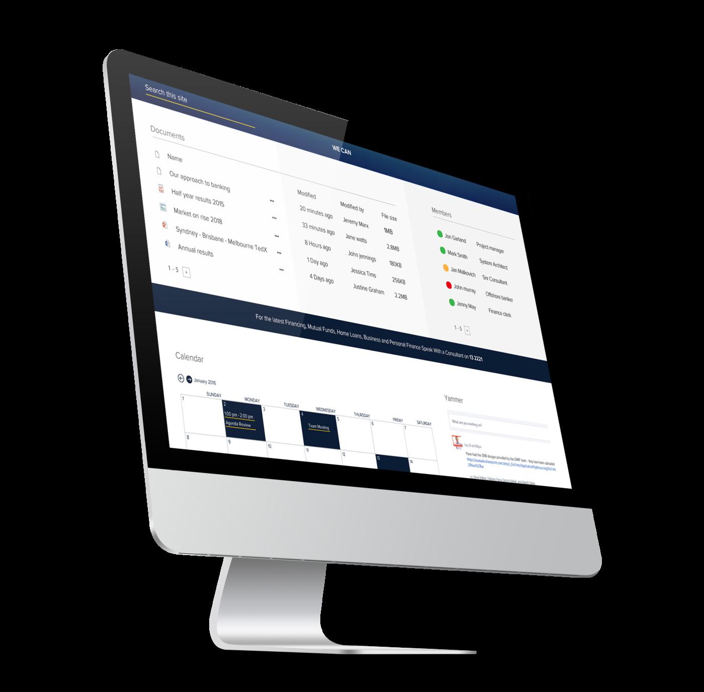 SharePoint UI Design iMac
